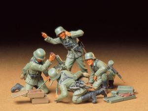 Figurki niemiecka piechota zespół moździerza - 2850352828