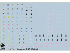 Kalkomania stopnie i odznaki PSZ 1940-46 - 2850352829