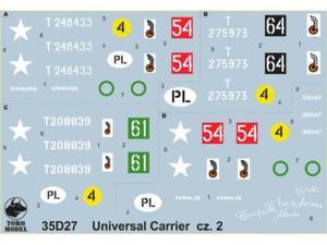 Kalkomania Universal Carrier Mk.II w WP i PSZ cz.2 - 2850352948