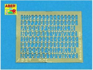 Fototrawione cyfry i litery H1,5mm - 2850352974