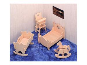 Mebelki dla lalek pokój dziecięcy składanka