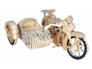Motocykl z przyczepką składanka - 2850350583