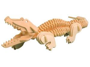 Krokodyl składanka drewniana
