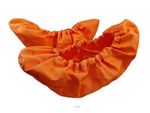 10-102/1 pomarańczowe ochraniacze na buty, wielorazowe ortalionowe obuwie ochronne obuwie muzealne, ochronniki, pokrowce na obuwie, do żłobka, prze - 2822909081