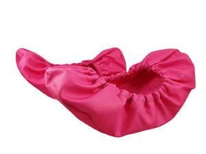10-102/1 różowe ochraniacze na buty, wielorazowe ortalionowe obuwie ochronne obuwie muzealne, ochronniki, pokrowce na buty, do żłobka, przedszko - 2842258677