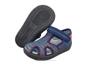 7981287c 0-13-141L GRANATOWE JEANS buciki kapcie wcz.dzieciÄ™ce obuwie dzieciÄ™ce  Renbut 19-27 Renbut PL