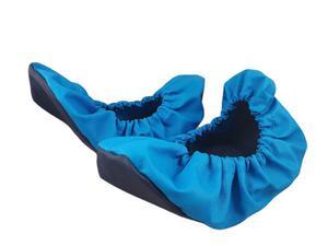 10-102/1 turkusowo czarne ochraniacze na buty, wielorazowe ortalionowe obuwie ochronne obuwie muzealne, ochronniki, pokrowce na obuwie, do  - 2860077775