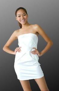 431446755a Sukienka Japan Style biała S1474 - 1749606669