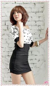 6b860f7941 Biało-czarna sukienka damska Japan Style S2050 Japan Style. Suknie i  sukienki