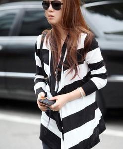 7a45b3a75f Kardigan damski biało-czarny Japan Style T3019 - 1749607070