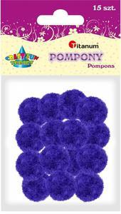 Pompony akrylowe fioletowe 1,8cm A`15 - 2878975962