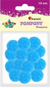 Pompony akrylowe j. niebieskie 1,8cm A`15 - 2878975961