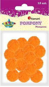 Pompony akrylowe pomarańczowy 1,8cm A`15 - 2878975960