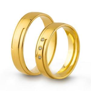 Złote obrączki ślubne AMARE LOVE A671 - 2824437540