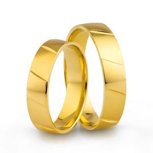 Złote obrączki ślubne AMARE LOVE A673 - 2824437542