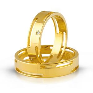 Złote obrączki ślubne AMARE LOVE A674 - 2824437543