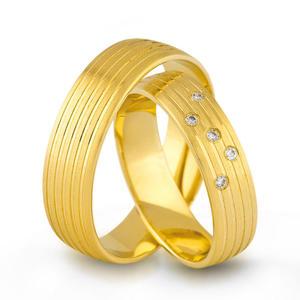 Złote obrączki ślubne AMARE LOVE A676/5 - 2824437545