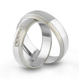 Złote obrączki ślubne AMARE LOVE A677/5 - 2824437546