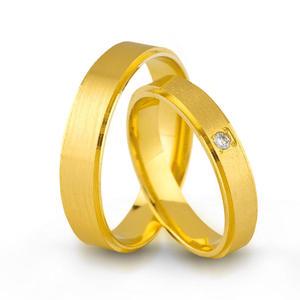Złote obrączki ślubne AMARE LOVE A678/4 - 2824437547