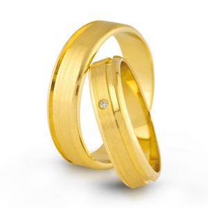Złote obrączki ślubne AMARE LOVE A679/5 - 2824437548
