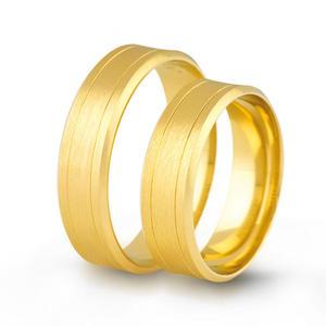 Złote obrączki ślubne AMARE LOVE A682 - 2824437551