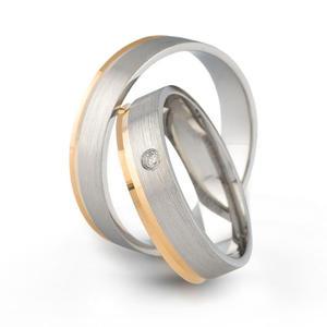 Złote obrączki ślubne AMARE LOVE A685 - 2824437554