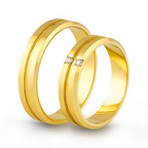 Złote obrączki ślubne AMARE LOVE A688 - 2824437557