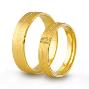 Złote obrączki ślubne AMARE LOVE A689/4,5 - 2824437558