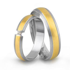 Złote obrączki ślubne AMARE LOVE A690/4 - 2824437559