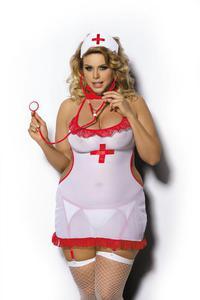 Anais sexy koszulka pielęgniarka duże rozmiary SHANE od XL do 6XL - 2889160547