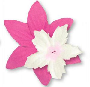 Papierowe kwiatki Heyda różowo/białe x80
