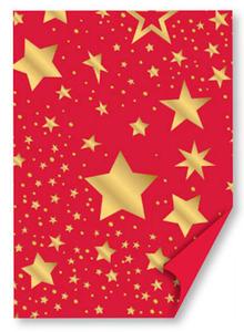 Karton B2 300g Heyda Star czerwono/złoty x1