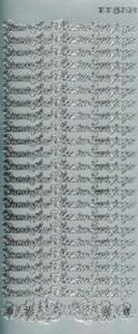 Sticker srebrny 02129 - pamiątka chrztu x1
