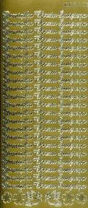 Sticker złoty 02129 - pamiątka chrztu x1