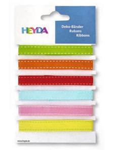Wstążki tasiemki Heyda Colurful 1mb x6