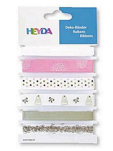 Wstążki tasiemki Heyda Wedding 1mb x6