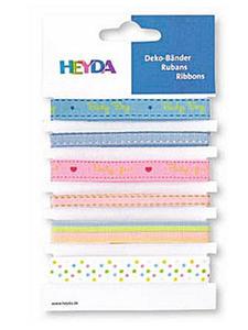 Wstążki tasiemki Heyda Baby 1mb x6