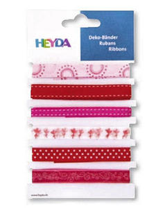 Wstążki tasiemki Heyda love 1mb x6