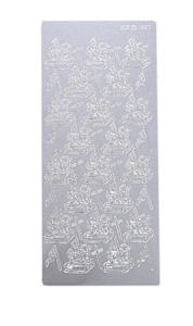 Sticker srebrny 01867 - baranek wielkanocny x1 - 2824961419
