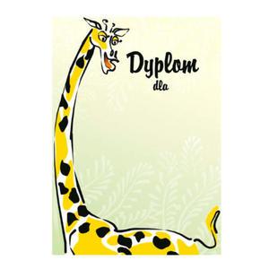 Dyplom A4 170g Żyrafa x25