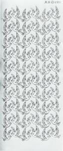 Sticker srebrny 02811 - gołąbki x1