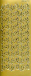 Sticker złoty 02811 - gołąbki x1