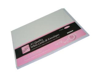 Zestaw kopert i kart A5 Anita's białe x25
