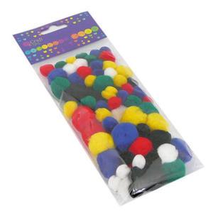 Pompony dekoracyjne mix kolorów 78e x1 - 2866099236