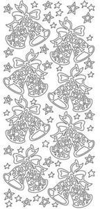 Sticker złoty 02424 - dzwonki x1 - 2843439532