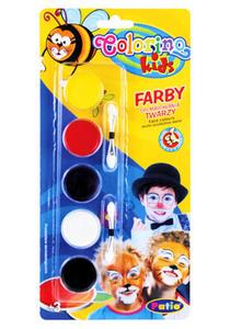 Farby do malowania twarzy Patio 5kol x1