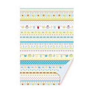 Karton A4 200g Heyda Baby Borders niebieski x1 - 2824961896