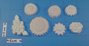 Forma do odlewów gipsowych A-F5-24 kwiatki x1 - 2824961911