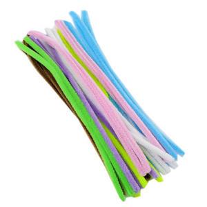 Druciki kreatywne chenille 30cm pastelowe x25 - 2850645219