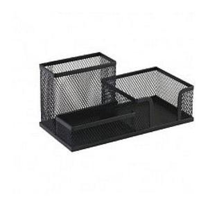 Przybornik biurowy metalowy 9058 czarny x1 - 2873178404